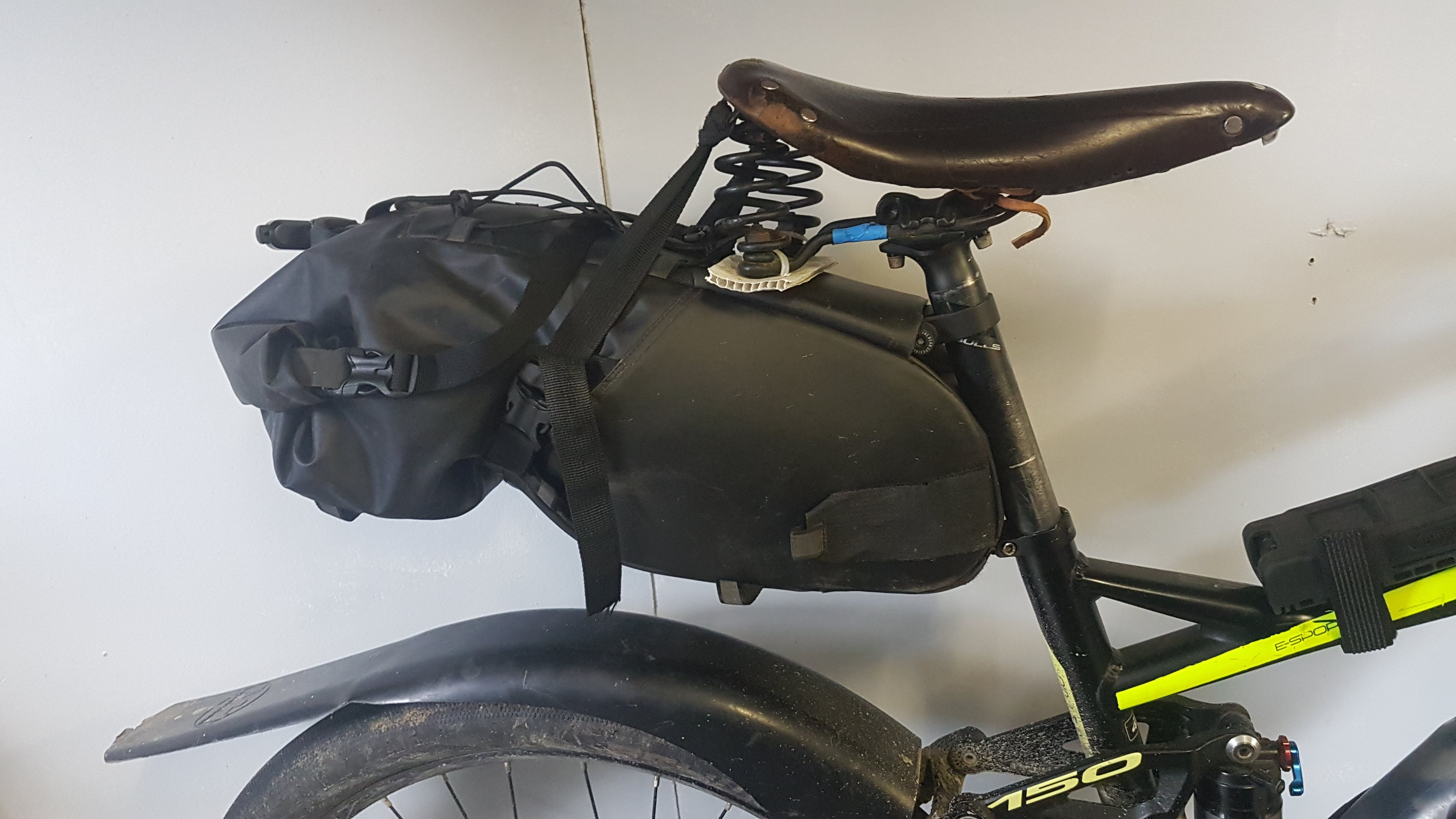 The old Brooks Flyer made  my seat bag sit too low, but it was so comfortable that I put up with it for 3,000km around Europe